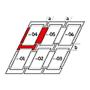 Raccordement combiné a = 100 mm / b = 250 mm 66 cm x 98 cm Profilés en aluminium pour matériaux plats jusqu'à 16 mm (2x8 mm) Montage standard (ligne rouge)