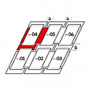 Raccordement combiné a = 100 mm / b = 100 mm 94 cm x 140 cm Profilés en zinc-titane pour matériaux plats jusqu'à 16 mm (2x8 mm) Montage standard (ligne rouge)