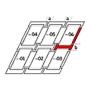 Raccordement combiné b = 100 mm 134 cm x 140 cm Profilés en zinc-titane pour matériaux profilés jusqu'à 90 mm Montage abaissé (ligne bleue)