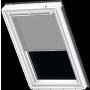 Store plissé blanc à motifs gris 55 cm x 70 cm